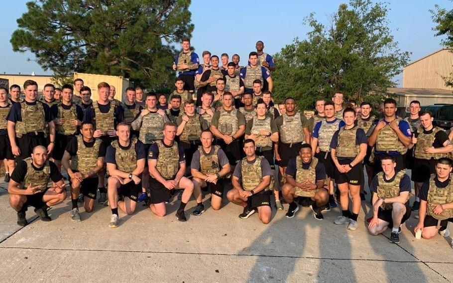 Soldiers of 2nd Battalion, 505th Parachute Infantry Regiment honor Sgt. 1st Class Elis A. Barreto Ortiz, 34, from Morovis, Puerto Rico, by gathering for a special workout Sept. 12, 2019, at Fort Bragg, N.C. Barreto died Sept. 5 in a Taliban suicide bomb in Kabul, Afghanistan.
