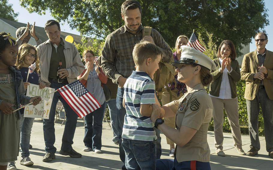 """Cassidy Sharp, a character in the NBC drama """"This is Us,"""" depicts a Marine who returns from a deployment to Afghanistan struggling with post-traumatic stress disorder. Her character was inspired by multiple real-life servicemembers."""