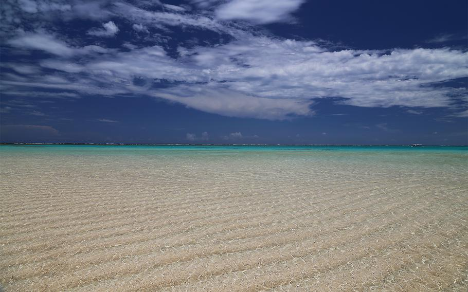 Yoron Island is famous for the Yurigahama sandbank, which appears for a few hours at low tide.