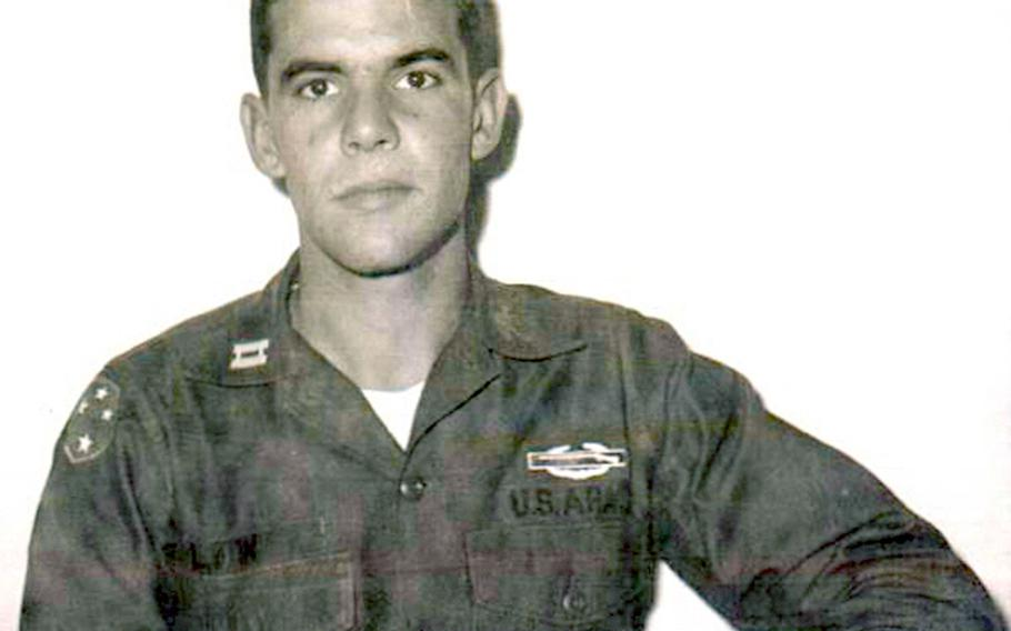 Cpt. Michael McDonald-Low poses in December 1968 after completing his combat tours in Vietnam.