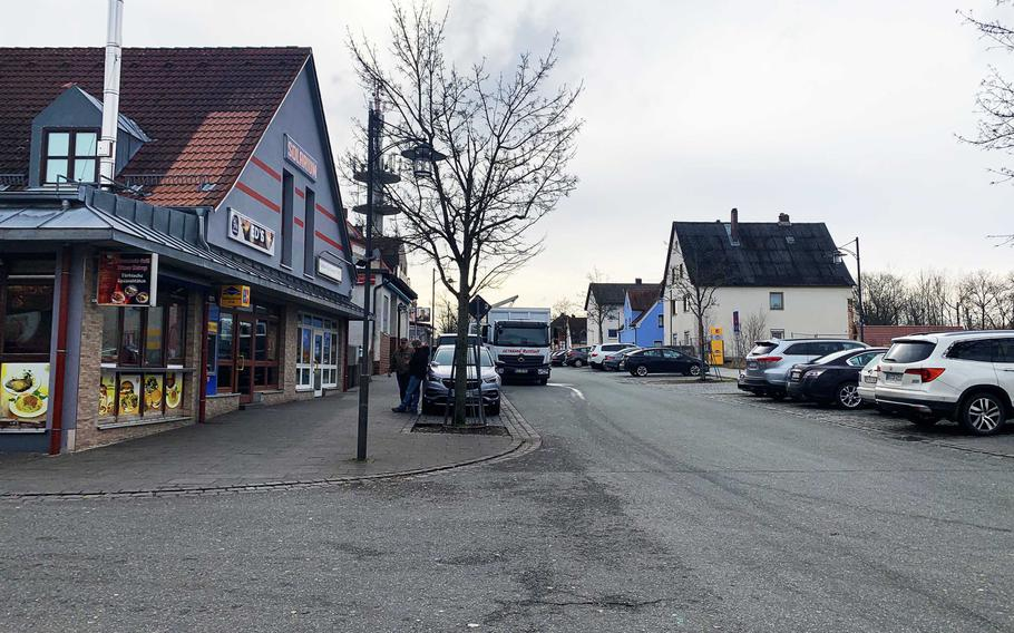 A soldier from the 173rd Airborne Brigade was injured in a street brawl involving several other American soldiers in Grafenwoehr, Germany, seen Saturday, Feb. 8, 2020. The 173rd is forward-based in Grafenwoehr and Vicenza, Italy, where its soldiers have been accused of involvement in numerous brawls.