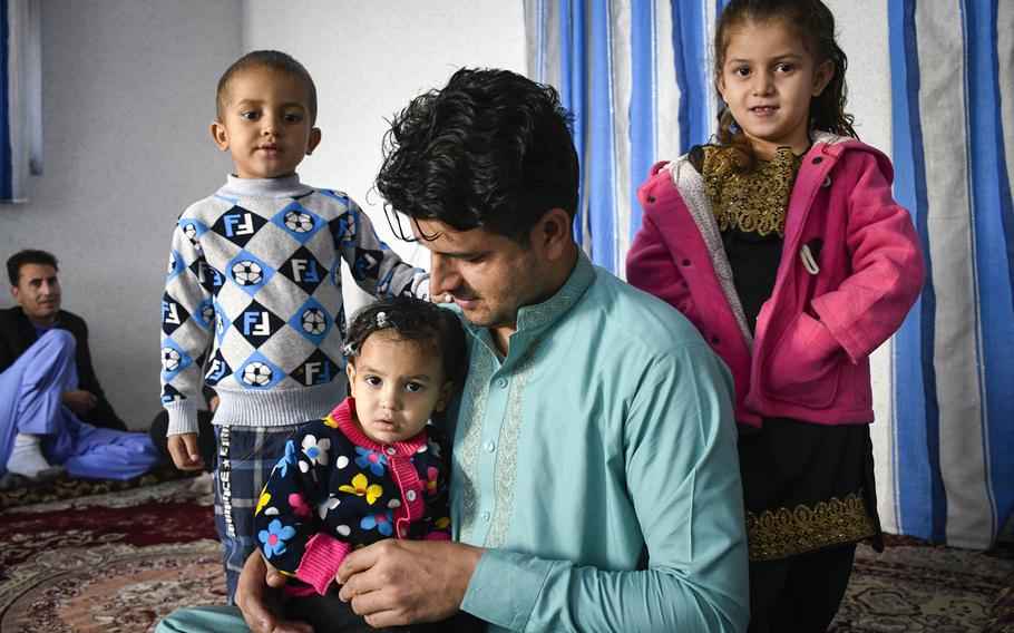 Zabihullah Bayan, a former Afghan interpreter for the U.S. military, prepares to leave Kabul, Afghanistan, with his family on a special immigrant visa, on Oct. 10, 2019. The U.S. government submitted a plan March 5, 2020 in response to a court order to speed up the SIV program, which provides visas for Afghan and Iraqi translators who worked for the U.S.