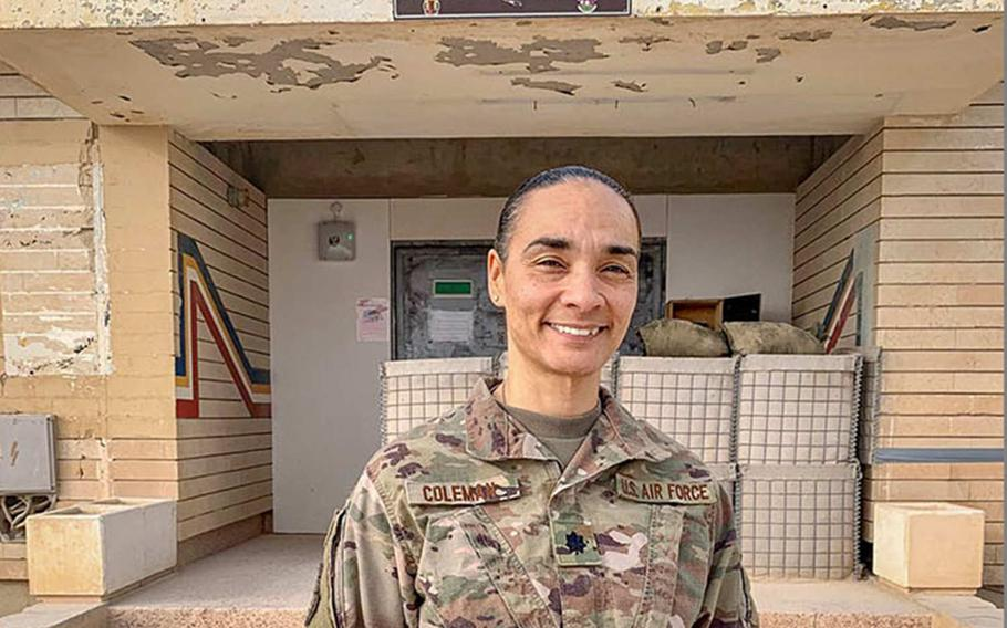 U.S. Air Force Lt. Col. Staci Coleman described in a report released on Tuesday, April 21, 2020 by the Air Force how Iranian missiles hit al Asad Air Base in Iraq during January ''with a force impossible to put into words.''