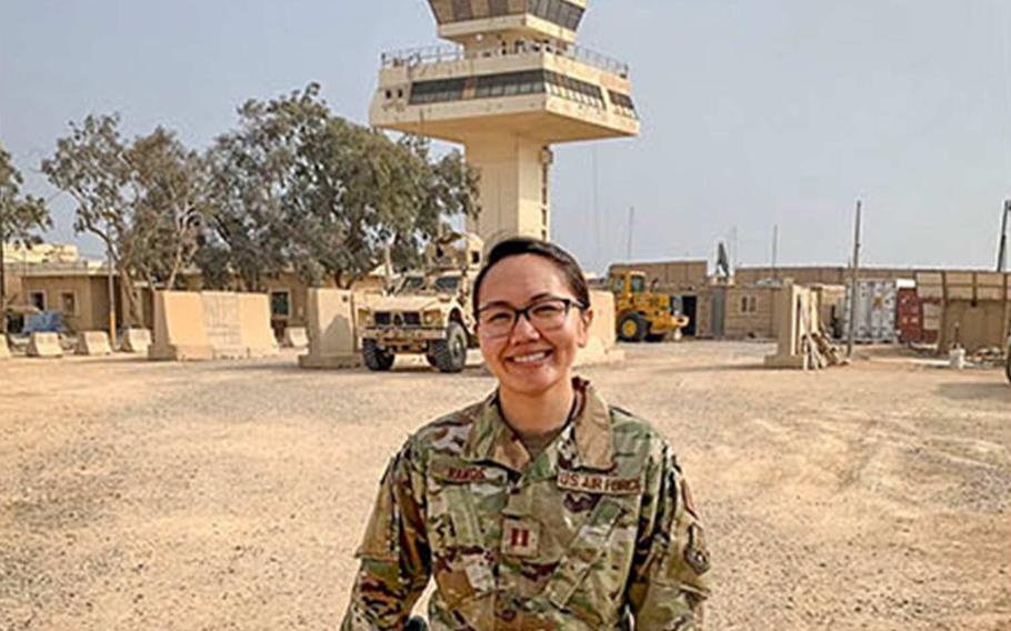 U.S. Air Force Capt. Adella Ramos said in a report released on Tuesday, April 21, 2020 by the Air Force that commanders had to make ''life or death decisions based on little information and a whole lot of gut,'' ahead of an Iranian missile attack on al Asad Air Base in Iraq in January 2020.  Ramos was one of dozens of airmen whose  accounts of the attack were included in the 36-page report.