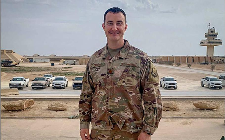 U.S. Air Force Maj. Johnathan Jordan joked with and reassured the airmen who were evacuated with him from al Asad Air Base in Iraq just before a series of missile attacks in January, he said in a report released Tuesday, April 21, 2020 by the Air Force. But internally, he wrestled with fears that they might have to identify the bodies of friends and lay them to rest.