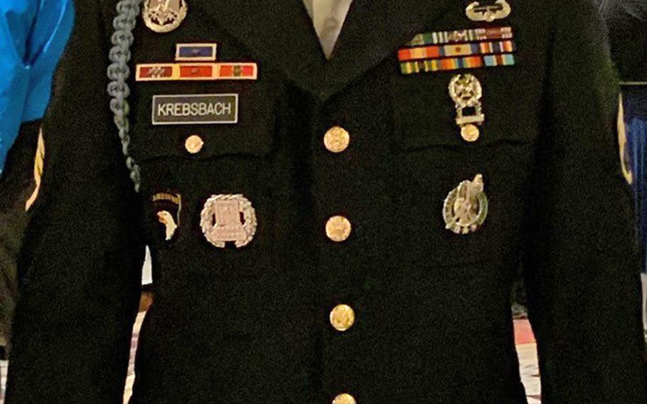 Army Staff Sgt. Riley Krebsbach, a recruiter based in southern California.
