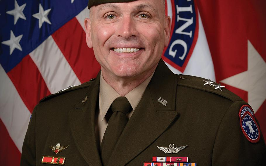 Maj. Gen. Frank Muth, commander of the U.S. Army Recruiting Command.