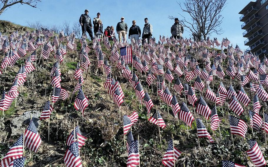 A display of 660 flags meant to raise awareness about veteran suicide in Tuxedo Park, N.C., in 2017. The ''Flags for Forgotten Soldiers'' initiative was a brainchild of Howard Berry, a Cincinnati, Ohio man who lost his son, Army Staff Sgt. Joshua Berry, to suicide. Berry died last month after a battle with cancer.