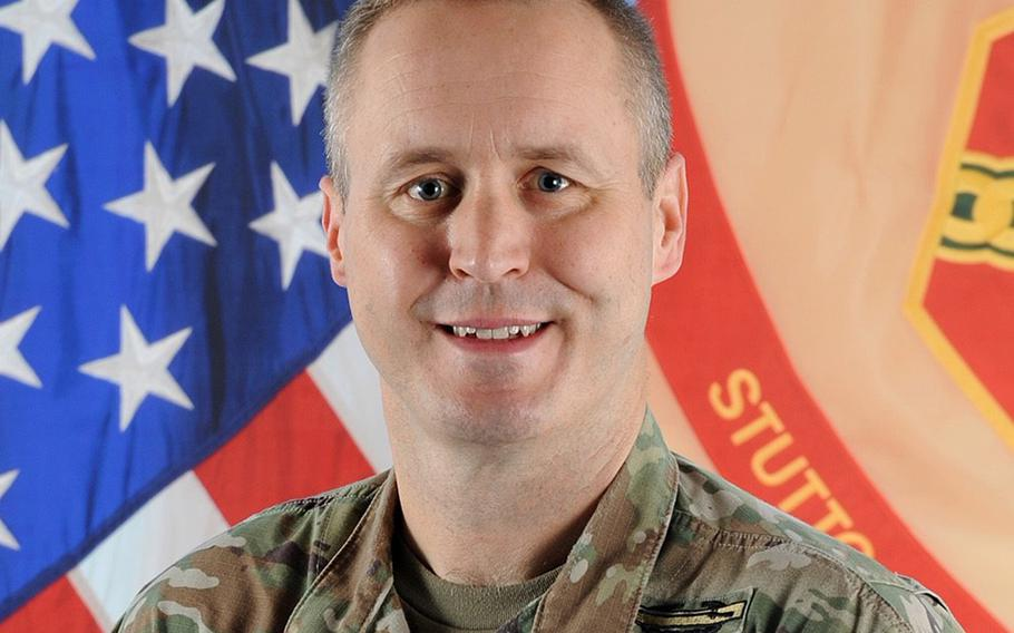 Col. Jason Condrey, Stuttgart garrison commander, said during a July 9, 2020, virtual town hall meeting that there has been a slight uptick in coronavirus cases at the garrison, mostly due to stateside arrivals.