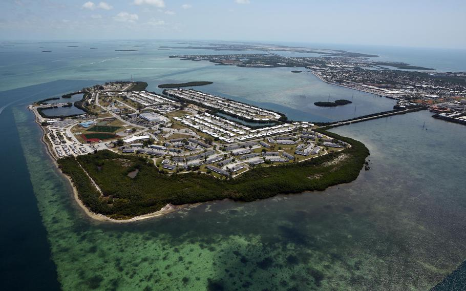 Aerial photo of Naval Air Station Key West???s Sigsbee Park Annex. Sgt. 1st Class Hector Delgado Ortiz, a logistics soldier based at Fort Bragg, N.C., was on temporary duty  to the Special Forces Underwater Operations School at the Florida base when he was killed in a vehicle accident on Sept. 14, 2020.