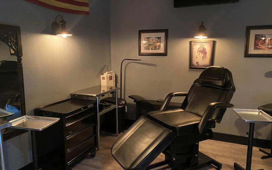 American Tattoo Society on Nellis Air Force Base, Nev., is the first known tattoo shop to open on an Air Force or Army installation.