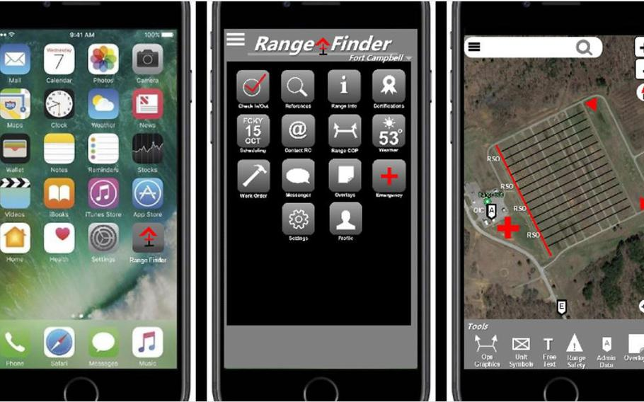 """This proposed '""""RangeFinder"""" mobile application for scheduling and managing Army training ranges earned Maj. Evan Adams, of the 101st Airborne Division, a four-day liberty pass and the school of his choice in the XVIII Airborne Corps? first ''Dragon?s Lair"""" innovation challenge on Tuesday, Oct. 27, 2020."""