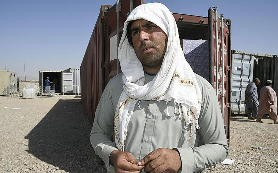 Goods thrown away by U.S. and NATO troops and contractors at Kandahar Airfield have surged as part of a troop drawdown in recent months, said Ehsan Mohammed, a vendor at a local bazaar where more than 1,000 workers scavenge discarded shipping containers from the base.