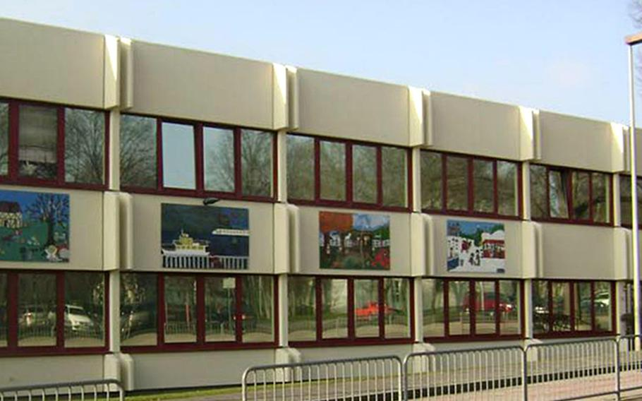 Wiesbaden Elementary School at the Hainerberg housing area in Wiesbaden, Germany. The school is closing for two weeks due to an ongoing coronavirus outbreak on the garrison.