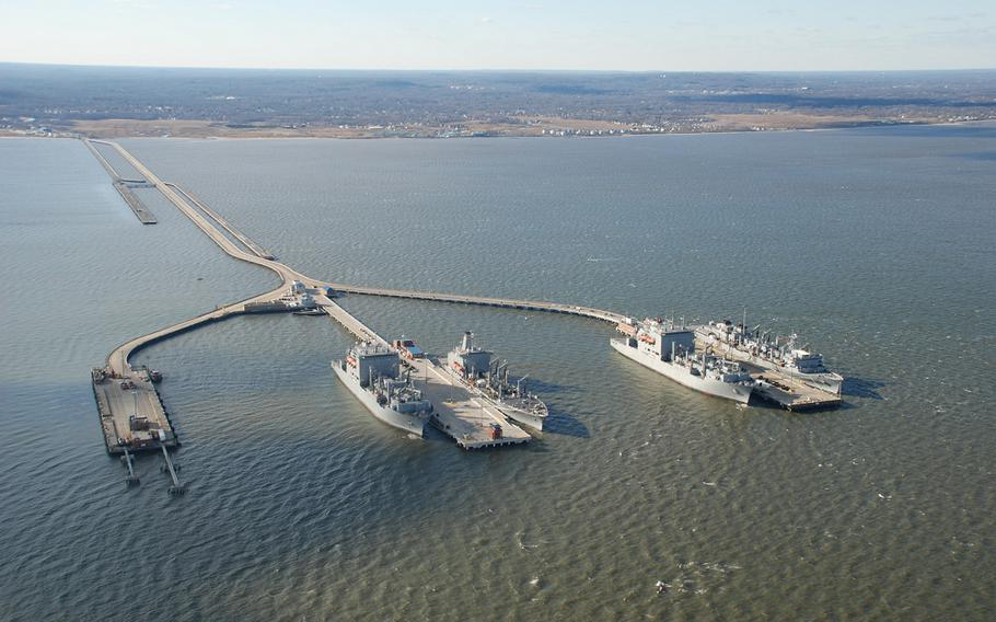 Naval Weapons Station Earle in Colts Neck, N.J., is shown in this 2014 file photo.