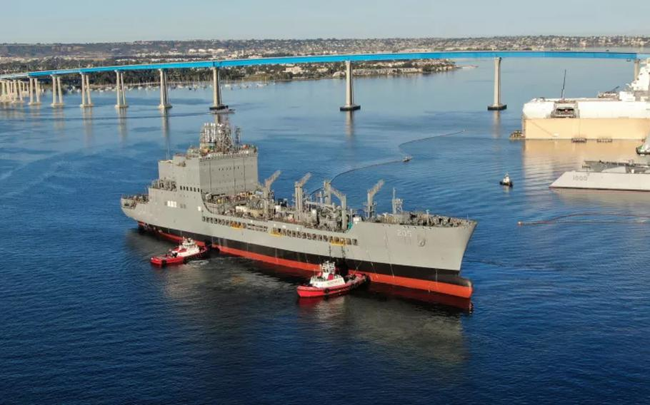 The oiler John Lewis will be christened on July 17 at General Dynamics-NAASCO.