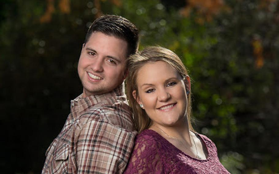 """Staff Sgt. Wesley W. """"Wes"""" Kubie, shown here with his wife, Abby, in an undated photo posted to social media, died of injuries suffered in a Humvee crash that occurred Tuesday afternoon near the Smoky Hill Weapons Range."""