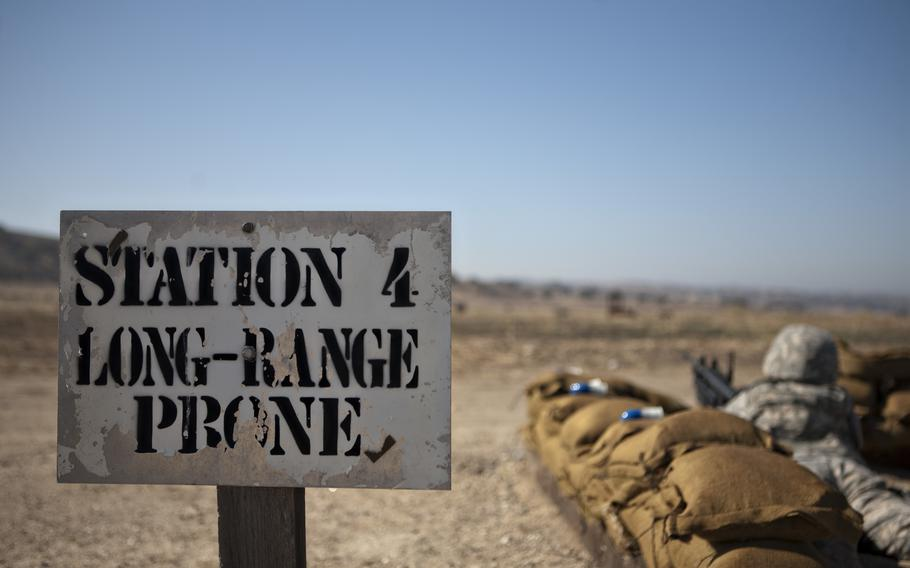 California Army National Guard Soldiers from Headquarters and Headquarters Company, 40th Combat Aviation Brigade, fire the MK-19 Grenade Launcher and the M320 Grenade Launcher Module during their pre-mobilization training at Camp Roberts, Calif., Aug. 18, 2015.