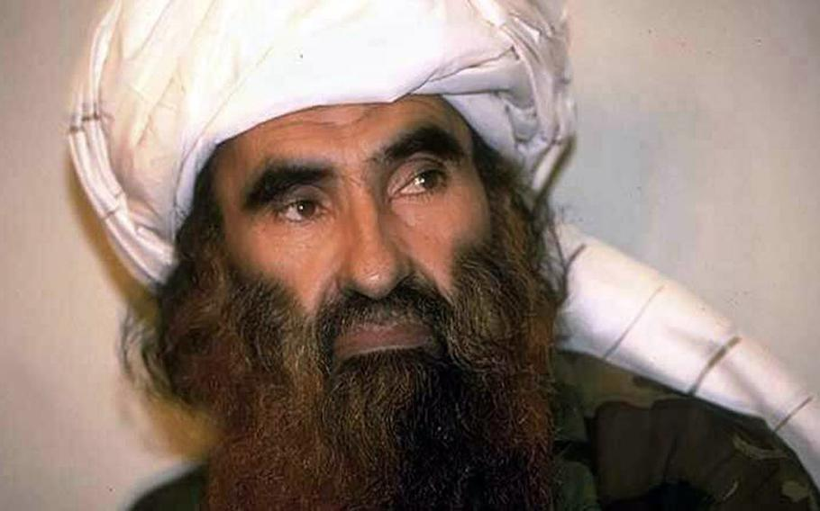 Image released by the Taliban of Jalaluddin Haqqani, founder of the Haqqani network, on May 25, 2016.