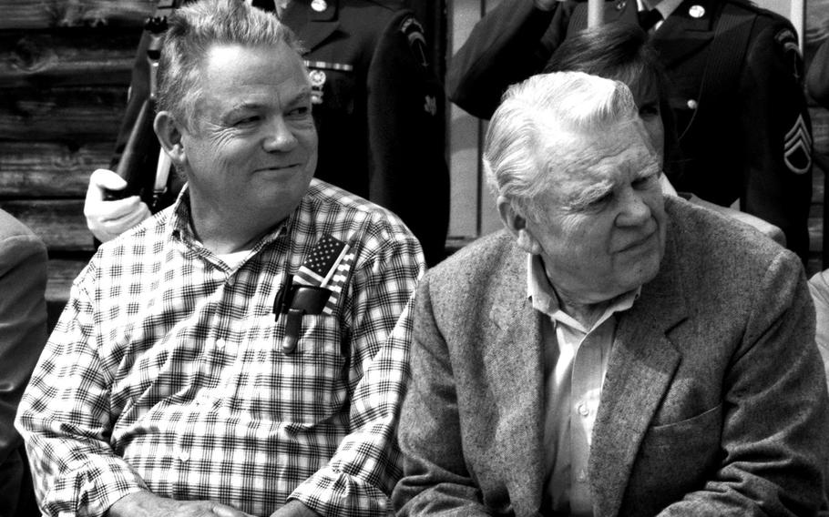 Bill Mauldin and Andy Rooney, right, both former Stars and Stripes staffers, during a rare meetup later in their lives.