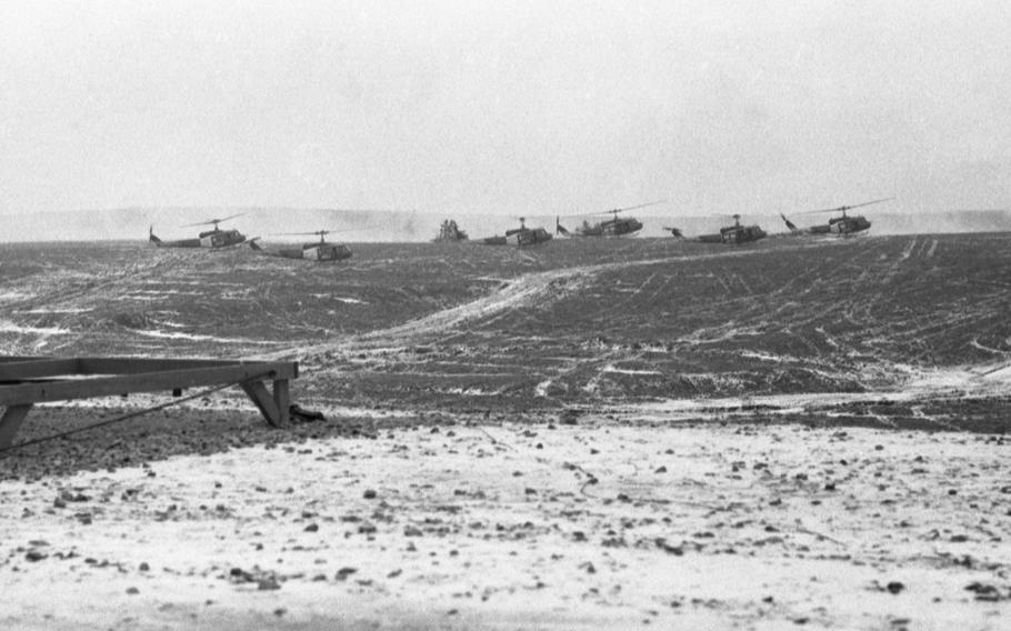 The air-mobile warfare demonstration at Grafenwoehr, Germany,  part of the Reforger I exercise, Feb. 1, 1969.