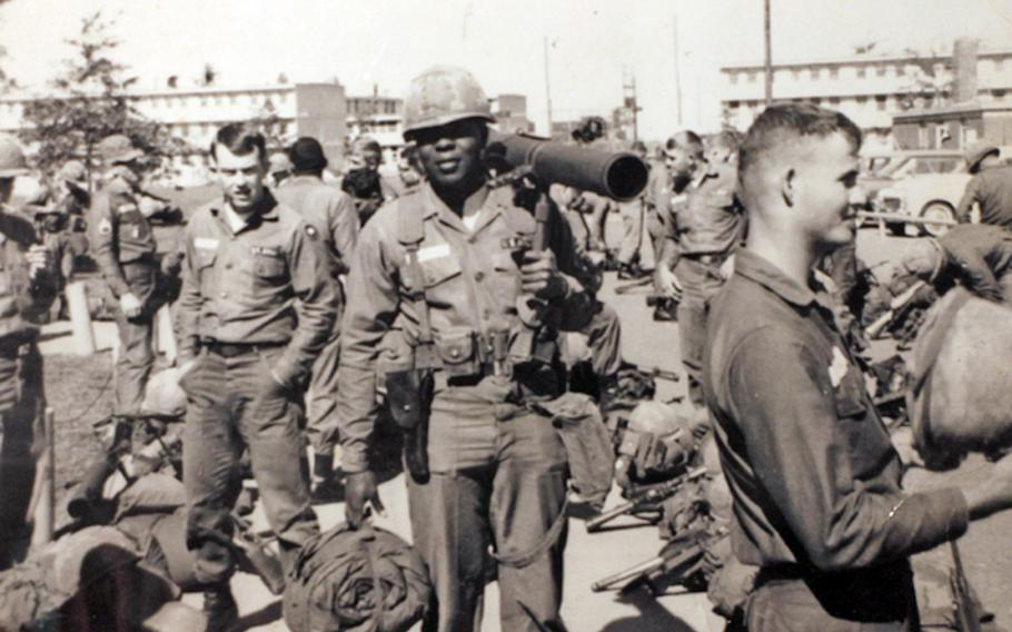 Willie McTear, center, served in Charlie Company of the Army 9th Division's 4th Battalion, 47th Infantry Regiment during the Vietnam War.