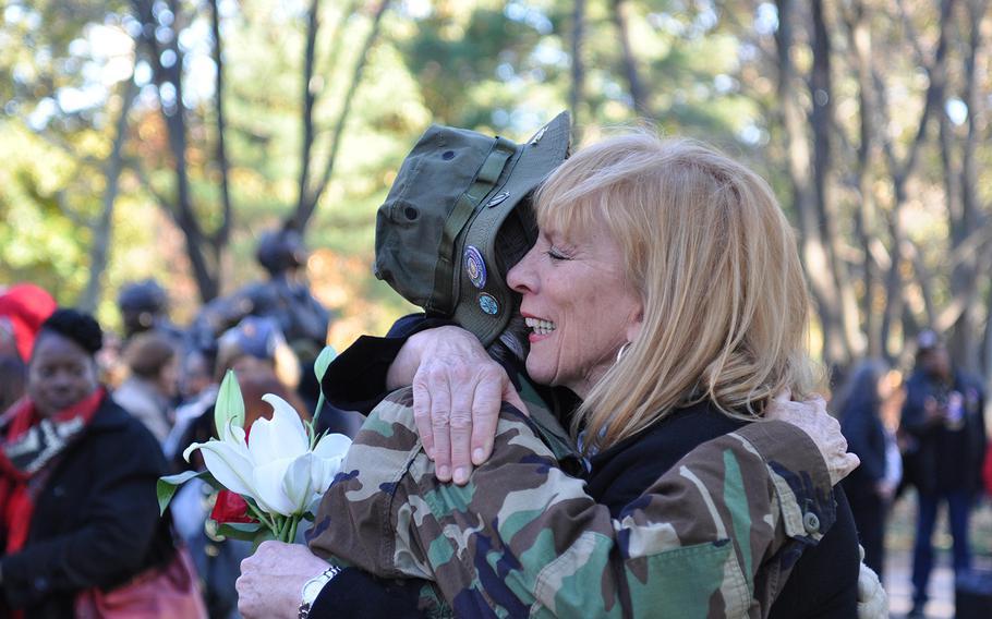 Jane McCarthy is part of the program marking Veterans Day 2018 at the Vietnam Women's Memorial in Washington.