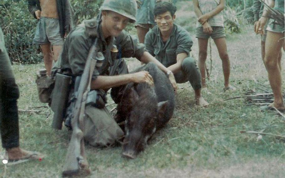 """""""My sniper rifle, pig and me."""""""