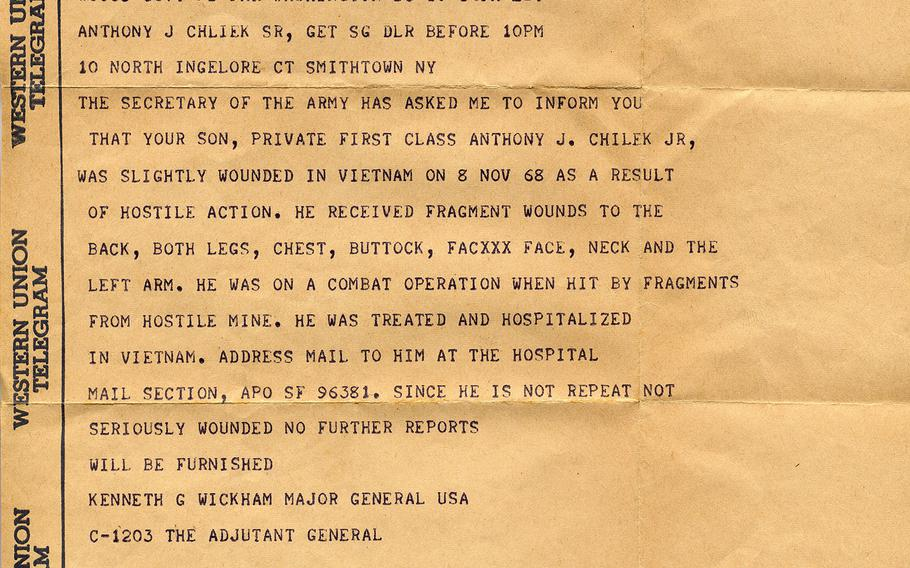 The wounded telegram.