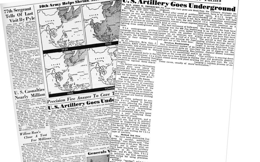 Stars and Stripes May 17 1945 page 5, Pacific edition.