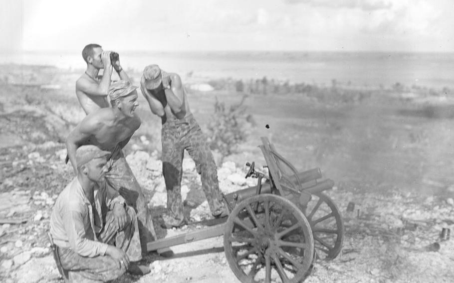 After the Marines captured this mountain gun from the Japanese at Saipan, they put it into use during the attack on Garapan. The islands of Saipan, Guam and Tinian, however, were of the utmost strategic importance to the Allies because from there, the Japanese mainland was about 1,300 miles away and within range of the B-29 bomber.