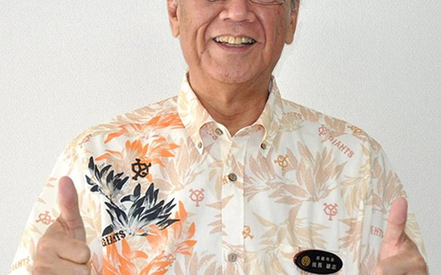 Former Naha mayor Takeshi Onaga defeated incumbent Gov. Hirokazu Nakaima in November 2014 to become Okinawa's next governor.