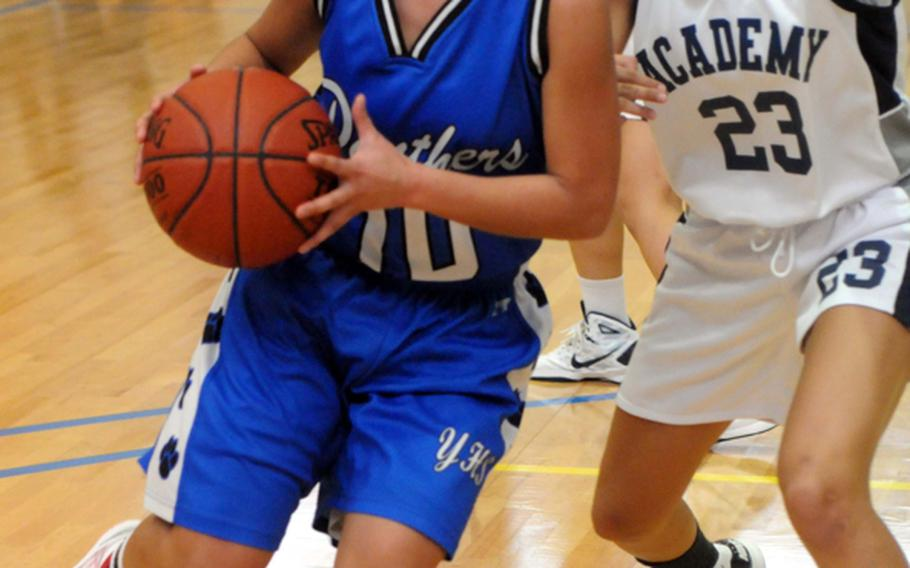 Senior guard Erika Ettl is one of a handful of returnees to the reigning DODDS Japan and Kanto Plain champion Yokota Panthers, who took third place in last February's Far East Division I Tournament on Guam.