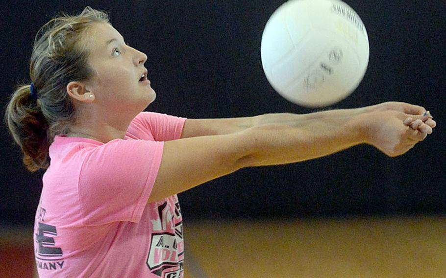 Junior Kate Holtquist will be tasked with replacing three-year starter Paris Hingel at setter for Zama's volleyball team.