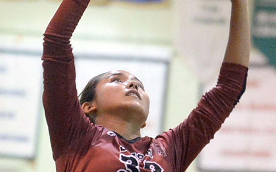 With Mimi Larry turning senior this year, this will be the final of five seasons that Kubasaki's volleyball team has featured a player named Larry in the lineup. Older sister Maiya, a former two-time Far East Tournament MVP, graduated last June.