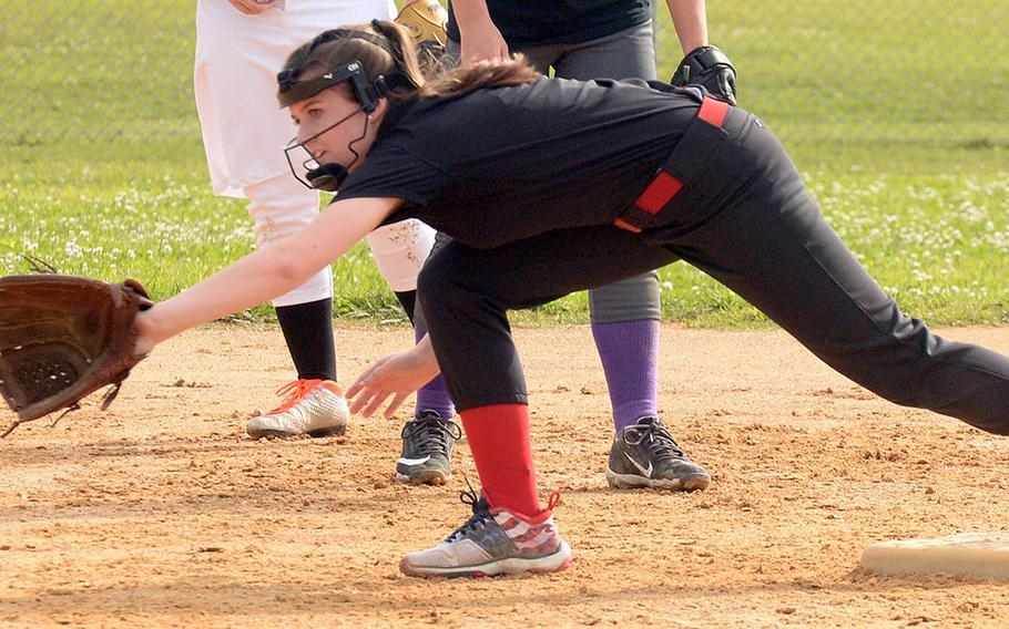 Kubasaki's Alyssa Frank is a freshman, but is not new to softball.