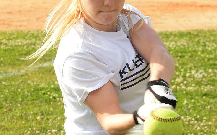 Sophomore Zoey Weidley is projected to start at shortstop for defending Far East Division I Tournament champion Kubasaki.