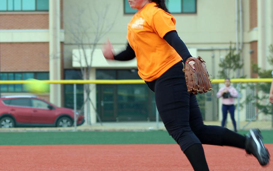 Freshman Isabelle Maulsby transfers from Alabama and should bolster the Humphreys softball pitching staff.
