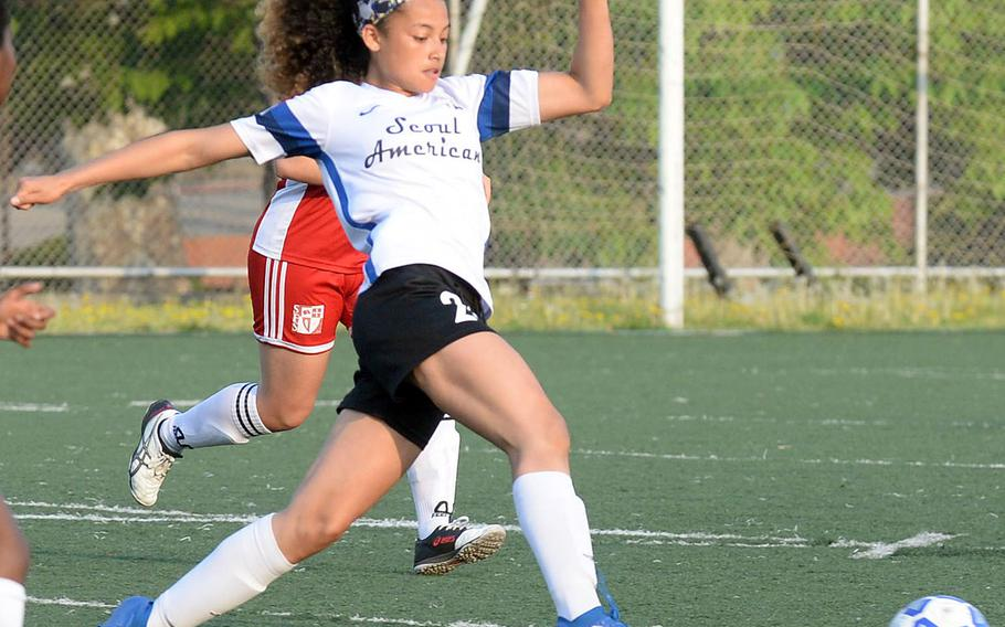 Mya Rolison, a sophomore transfer, paced Seoul American with 17 goals entering Far East Division II. This is the Falcons final tournament before the school closes on June 14.