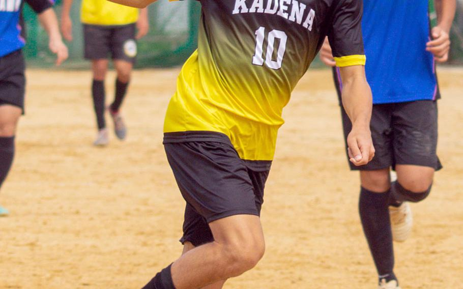 Senior striker and Kadena's boys soccer team hope to regain the Far East Division I title they last won in 2017.
