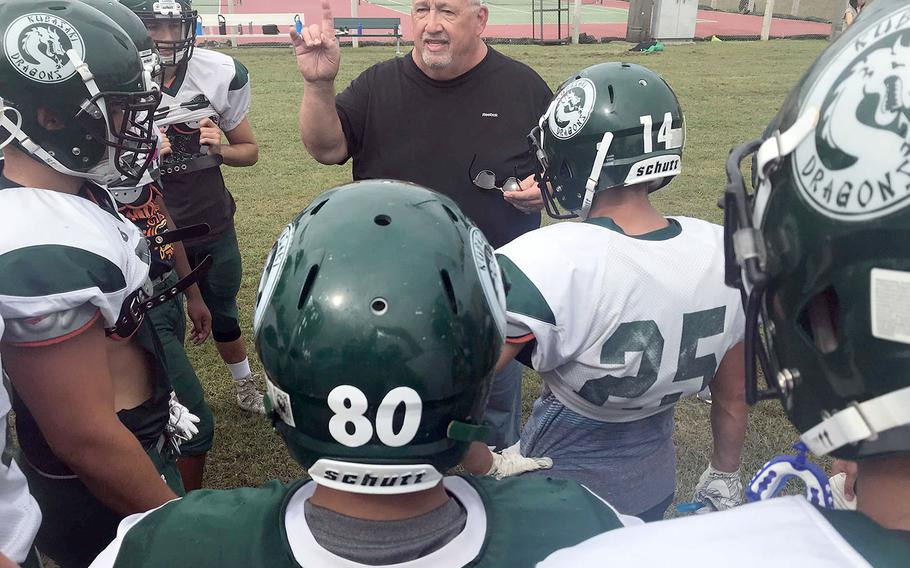 Fred Bales begins his 15th season at the Kubasaki Dragons' helm. And it could be his last, after 42 seasons of coaching, 32 as a head man dating back to his days at Balboa High School in Panama in the 1980s.