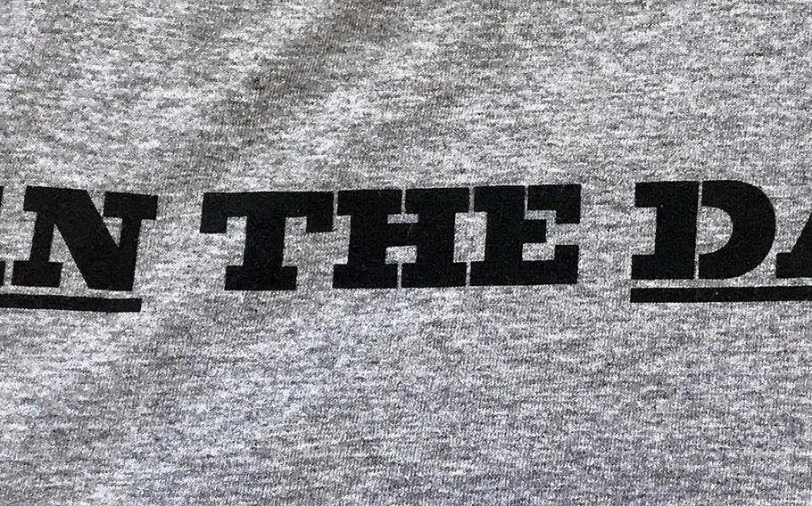"""""""Win the day"""" is the motto found on most Matthew C. Perry football shirts."""