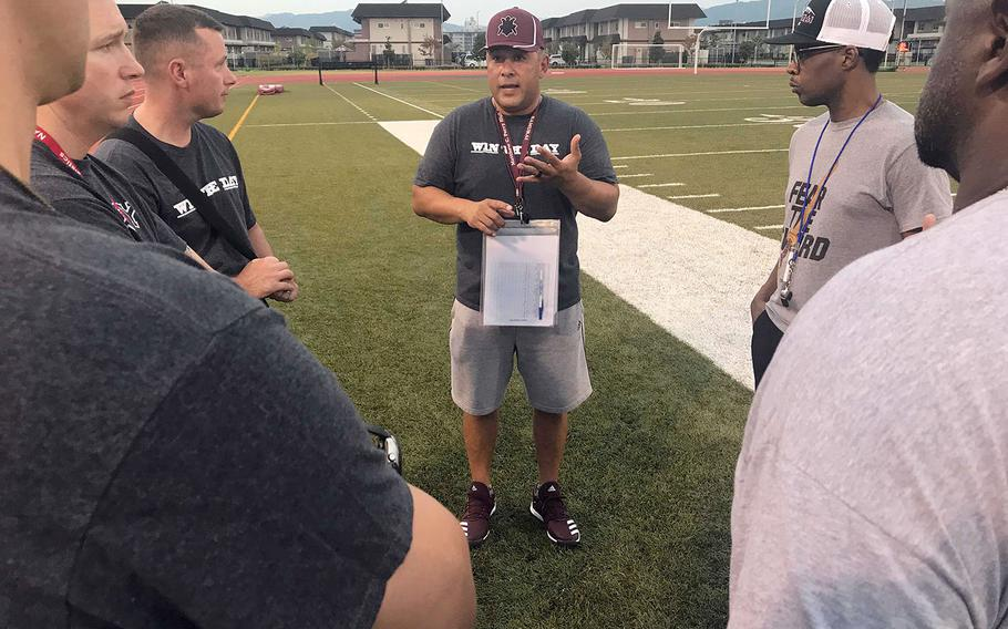 Head coach Frank Macias and his staff plan to bring back the hard-nosed, physical football that led Matthew C. Perry to success in 2016-17.