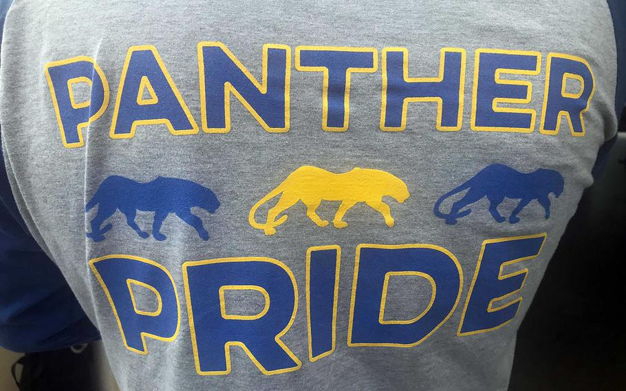 Wherever a Yokota football player or coach is, a Panther Pride shirt can't be far behind.