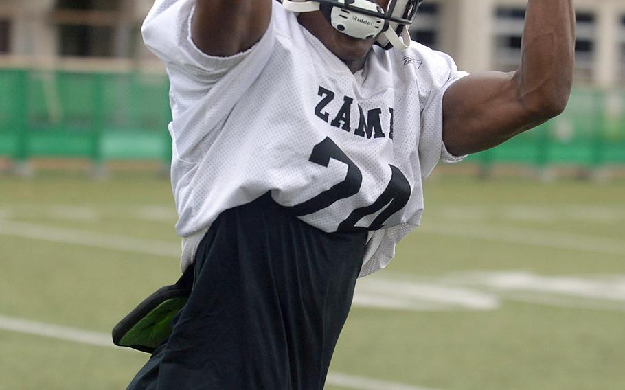 Senior Chandler Platt, a Zama wide receiver, transferred in just after football season last year.