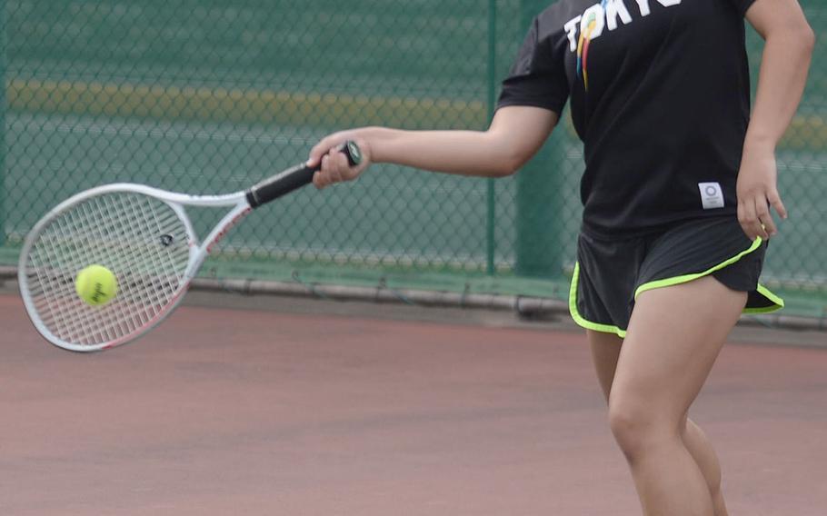 Nile C. Kinnick senior Amary-Gail Perfecto was a Far East doubles quarterfinalists a season ago.