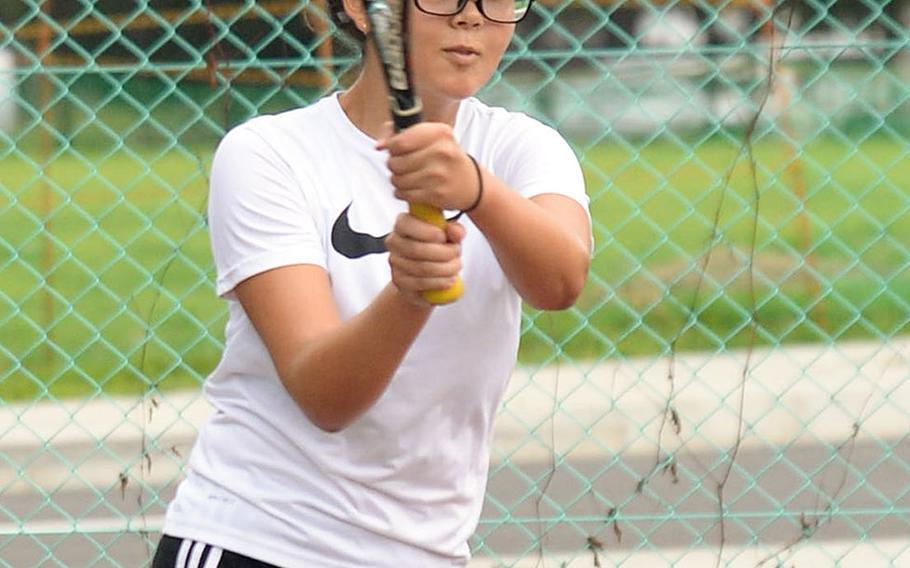 Yokota senior Jessica Vernon was a Far East doubles finalist last season.