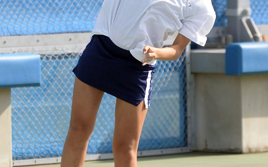 Seisen senior Sarah Omachi is hoping to serve up repeat titles in girls singles and doubles during Far East tennis this week.