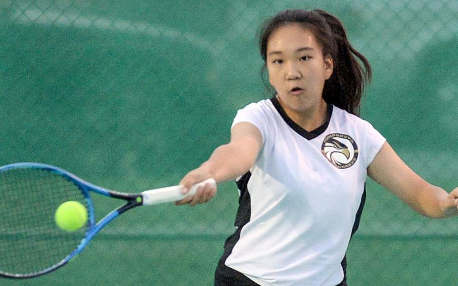 Humphreys' Toto Kang enters Far East tennis this week as one half of an unbeaten doubles pair in Korea's Red Division, with teammate Chelyn Park.