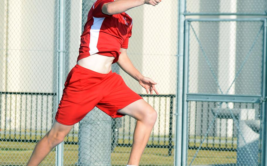 Nile C. Kinnick's Daniel Posthumus enters Far East tennis this week as the DODEA-Japan boys singles and doubles runner-up.